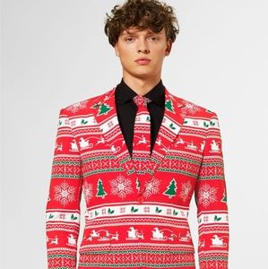 Mens OppoSuit And Tie  Winter Wonderland Holiday